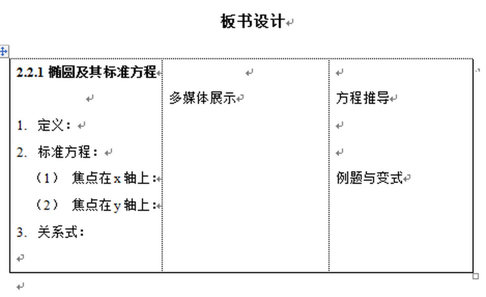2.2.1 椭圆及其标准方程  教学案例分析——李建情