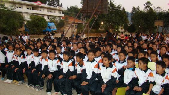 芒东民族中学迎2009年 元旦 合唱比赛