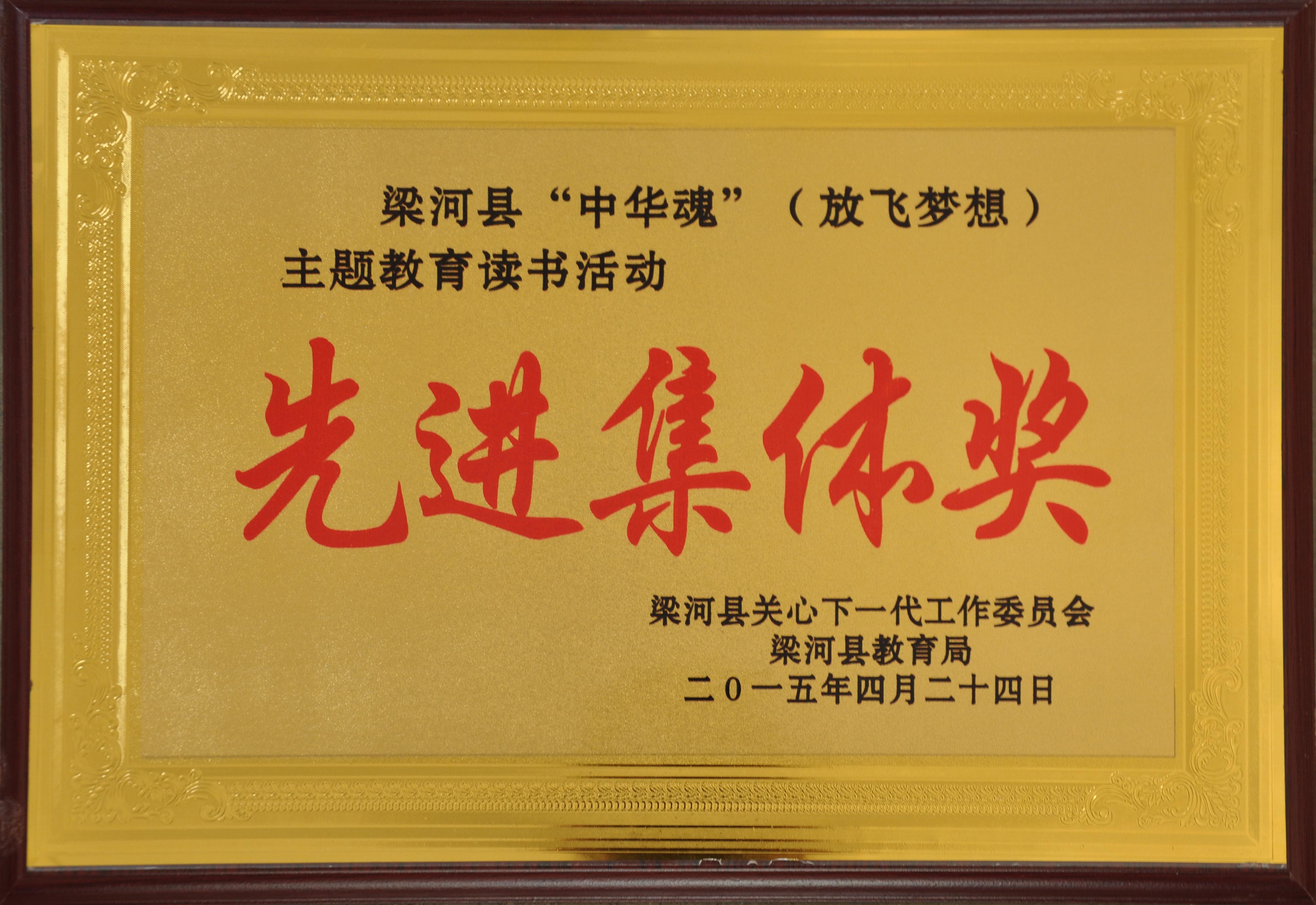 """梁河县""""中华魂""""(放飞梦想)主题教育读书活动先进集体奖"""