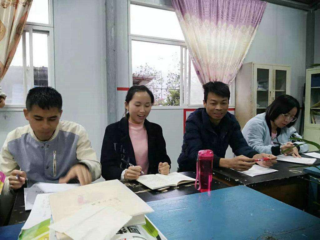 芒东镇帮别小学组织语文教师开展集体备课暨语文第八期公开课
