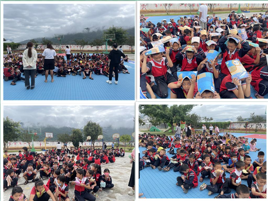 芒东镇翁冷小学开展地震应急及消防紧急疏散安全演练