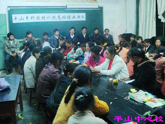 平山中心小学校长刘安纯同志总结-平山乡中心小学举行科技培训提高