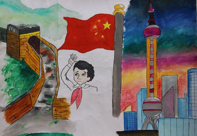 二等奖《富强中国梦》-梁河县青少年学生校外活动中心第二届 书法 绘