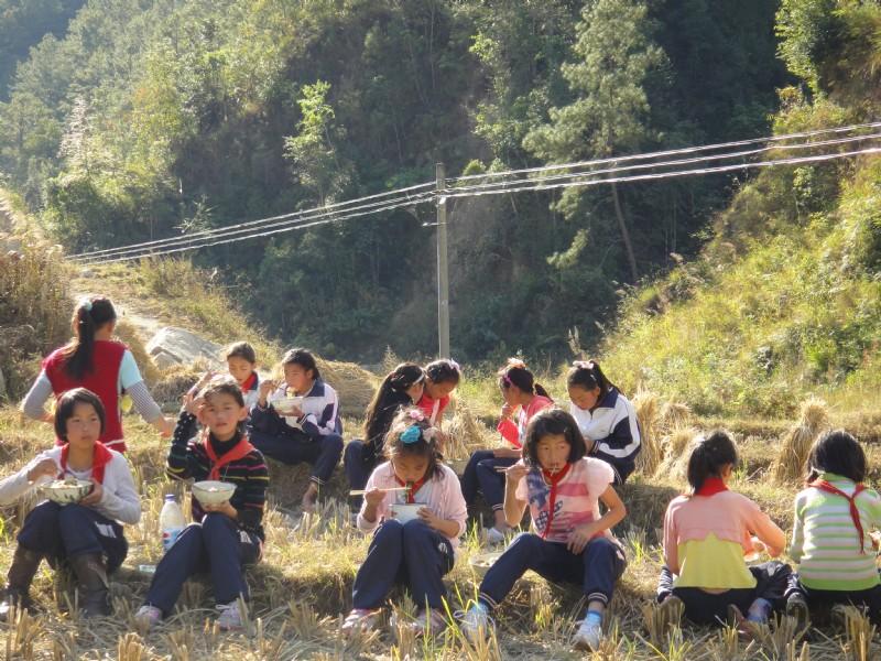 小厂乡勐竜小学组织学生开展野炊活动