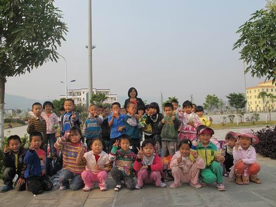 梁河县幼儿园春游踏青活动